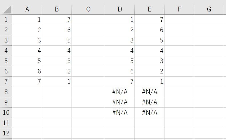 配列変数をセル上に出力する方法(VBA実行後)